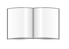 Open book template Stock Photography