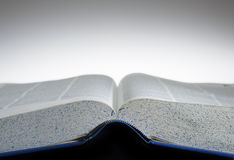 Open book. Open textbook with blank top half for type Stock Images