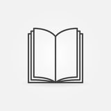 Open book thin line icon. Vector simple symbol for your design Royalty Free Stock Images