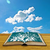 Open book to the sea Stock Image