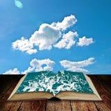 Open book to the sea Stock Photos