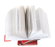 Open book on top of stack of books Stock Photos