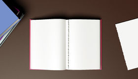 Open book - torn page. Blank open book with page torn out Royalty Free Stock Image