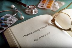 Open Book of Understanding HIV / AIDS sarcoma kaposi, Stock Images