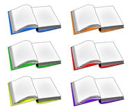 Open book vector clipart, symbol, icon  design. Illustration  on white background. Royalty Free Stock Photography