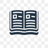 Open book vector icon isolated on transparent background, Open b. Ook transparency concept can be used web and mobile royalty free illustration