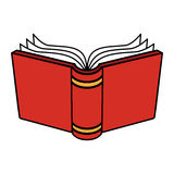 Open Book. A vector illustration of a cartoon book with open pages and a hard cover Stock Photos