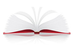 Open book vector illustration Royalty Free Stock Photo