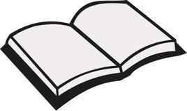 Open book vector. Open book reading education vector royalty free illustration