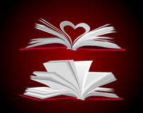 Open book vector set Royalty Free Stock Photo