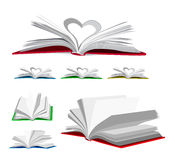 Open book vector set Stock Images