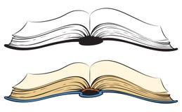 Open book. Vector sketch Royalty Free Stock Photo