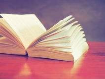 Open book in vintage  tone color Royalty Free Stock Image