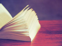 Open book in vintage  tone color Stock Photo