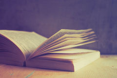 Open book in vintage tone color Stock Photography