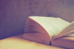Open book in vintage  tone color Stock Image