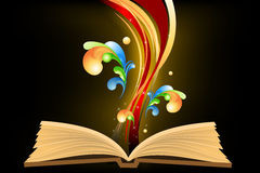 Open book with waves