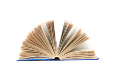 Open book on white background. Open book close-up isolated on a white background Royalty Free Stock Image
