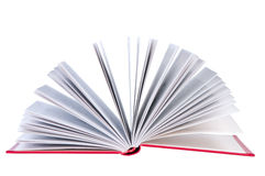 Open book on white background. Open book on white background isolated Stock Photos