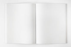 Open book on white background Stock Photography