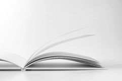 Open book on white background. Close-up photography Stock Photography