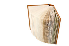 An open book on white background Royalty Free Stock Images