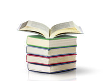 Open book. On white background Royalty Free Stock Photos
