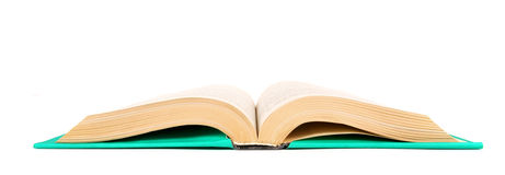 The open book. On white background. Stock Photography
