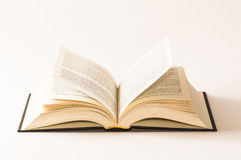 Open book on white background Royalty Free Stock Images
