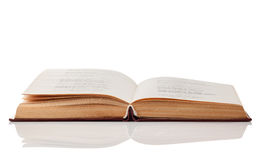 Open book. On white background. Clipping Path Royalty Free Stock Photo