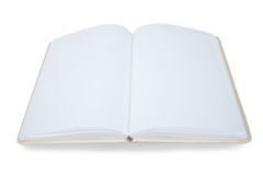 Open book on a white background. Empty open book on a white background Royalty Free Stock Photography