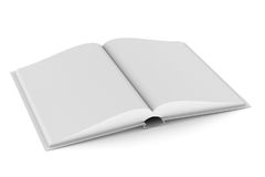Open book on white background. Isolated 3D illustration.  Royalty Free Stock Photography