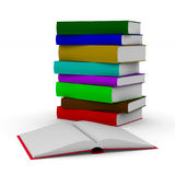 Open book on white background. Isolated 3D illustration.  Royalty Free Stock Images