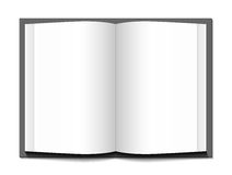 Open book. Open book on a white background. Vector illustration Stock Photos
