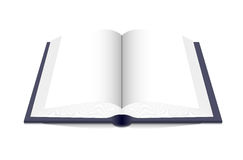 Open book. Open book on a white background. Vector illustration Royalty Free Stock Photos