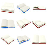 Open book with white blank pages  on white Royalty Free Stock Photo
