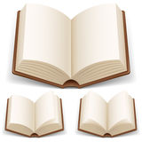 Open book with white pages. Illustration on white background Stock Images
