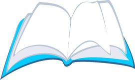 Open book. With white pages Royalty Free Stock Images