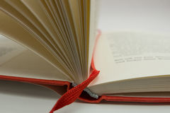 Open book. An open book in a white surface Stock Image