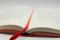 Open book. An open book in a white surface Stock Photography