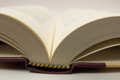 Open book. An open book in a white surface Royalty Free Stock Photo