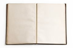 Open Book With Blank Pages Stock Photography
