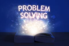Free Open Book With Problem Solving Inscription Stock Image - 190595021