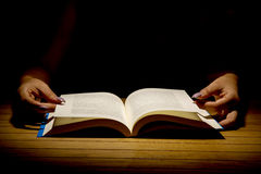 Open Book on wood background Royalty Free Stock Images