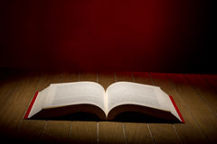 Open Book on wood background Royalty Free Stock Photography
