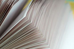 Open book on wooden table. Back to school. Copy space Royalty Free Stock Photography