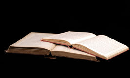 Open Books. Two open, antique books Royalty Free Stock Photos
