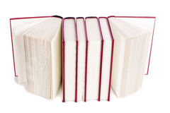 Open books. Three open books isolated over white background Royalty Free Stock Image