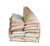 Open books. Stack of open books isolated on a white background Royalty Free Stock Photography