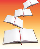 Open books. Flying on gradient background Stock Image
